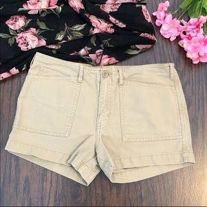 Abercrombie Shorts Size 14 Tan